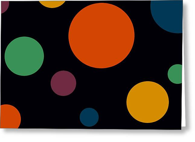 Circles 2 Greeting Card by Chastity Hoff