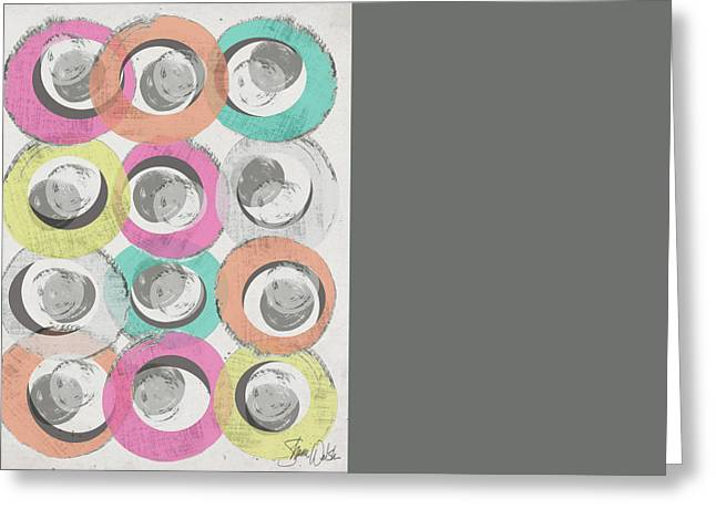 Circles Abstract I Greeting Card by Shanni Welsh