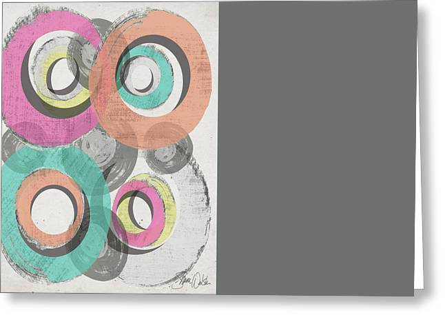 Circles Abstract II Greeting Card by Shanni Welsh