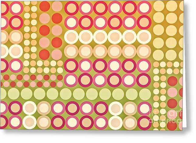 Circles Abstract One Greeting Card