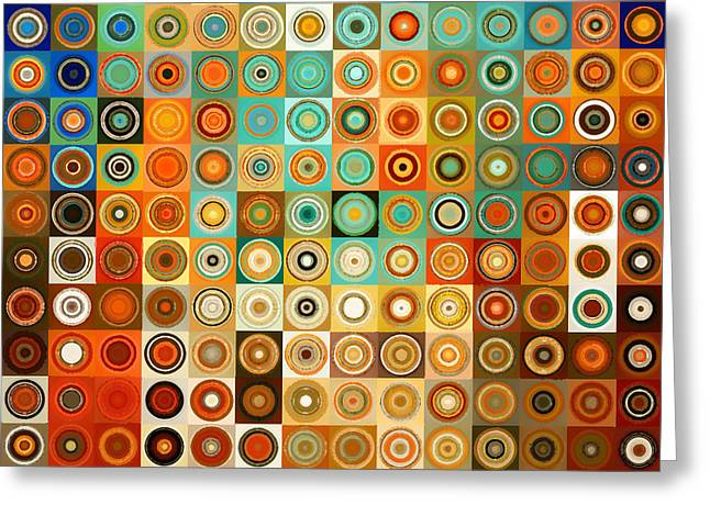 Circles And Squares 1. Modern Home Decor Art Greeting Card by Mark Lawrence