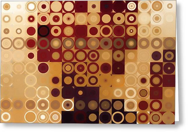 Circles And Squares 10. Modern Home Decor Art Greeting Card