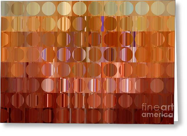 Circles And Squares 16 Modern Fine Art Greeting Card by Mark Lawrence