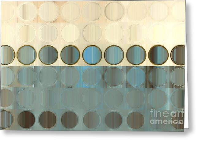 Circles And Squares 18. Modern Home Decor Art Greeting Card by Mark Lawrence