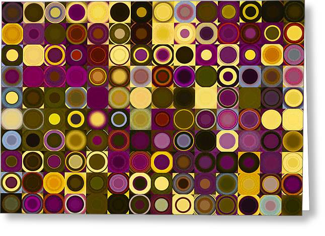 Circles And Squares 27. Modern Abstract Fine Art Greeting Card by Mark Lawrence