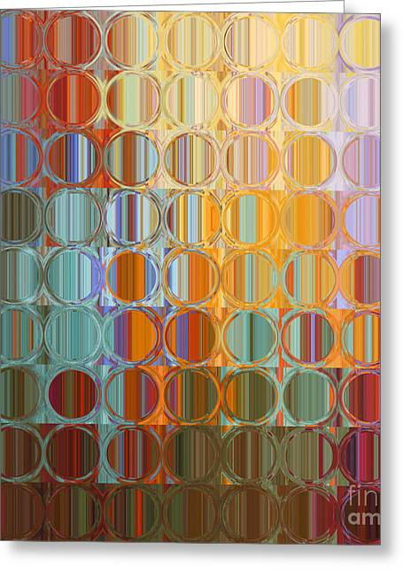 Circles And Squares 35. Modern Abstract Fine Art Greeting Card by Mark Lawrence