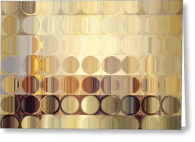 Circles And Squares 37. Modern Abstract Fine Art Greeting Card