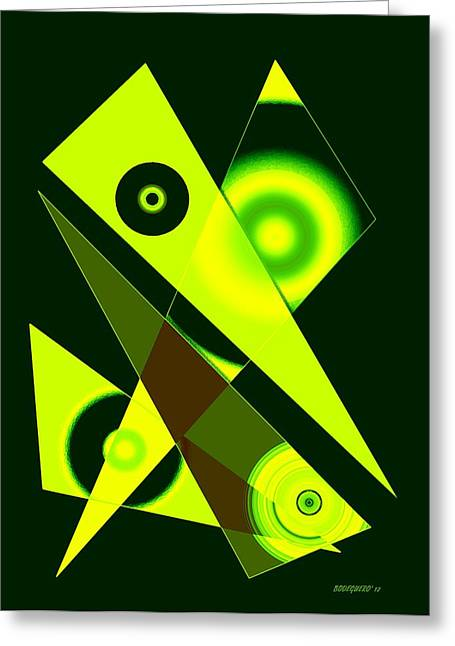 Circles And Triangles In Geometric Art Designs Greeting Card by Mario Perez