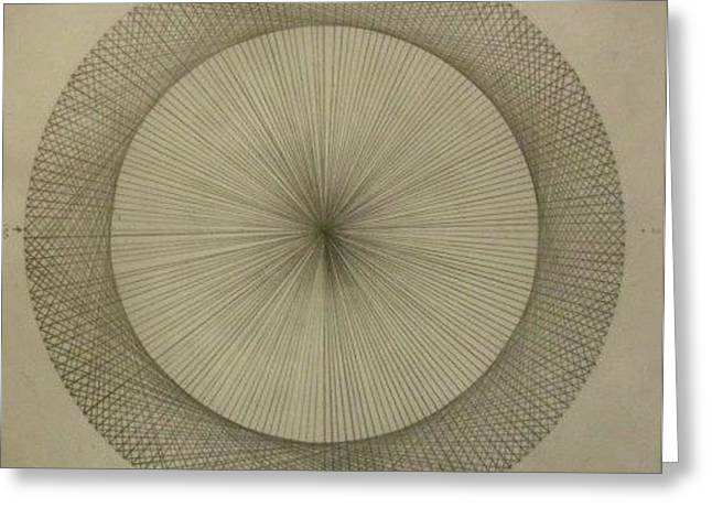 Greeting Card featuring the drawing Circles Don't Exist Two Degree Frequency by Jason Padgett