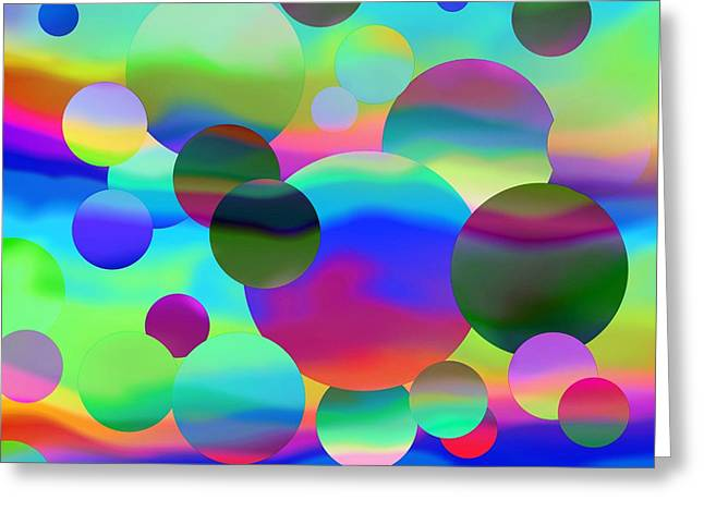 Greeting Card featuring the digital art Circles by Elizabeth Budd