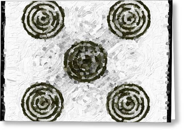 Circles In Various Patterns Greeting Card