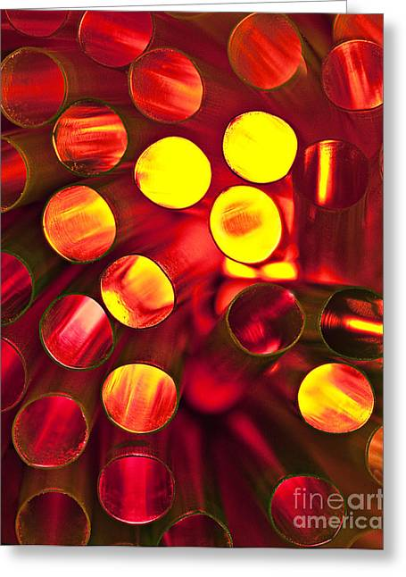 Circles Of Light Greeting Card by Linda D Lester