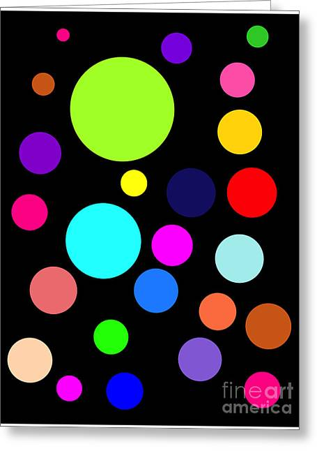 Circles On Black Greeting Card