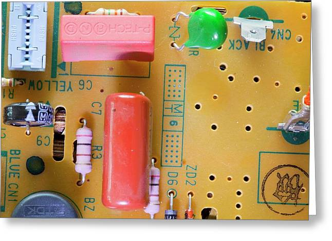 Circuit Board Greeting Card by Ashley Cooper