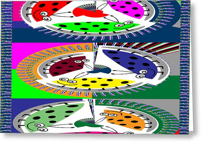 Circular Abstract Art Casino Lucky Dice Game Show Greeting Card