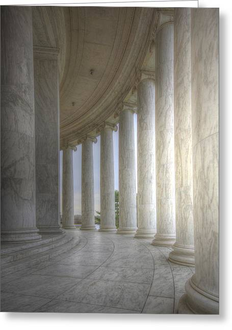 Circular Colonnade Of The Thomas Jefferson Memorial Greeting Card