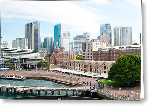 Circular Quay, Sydney, New South Wales Greeting Card by Panoramic Images
