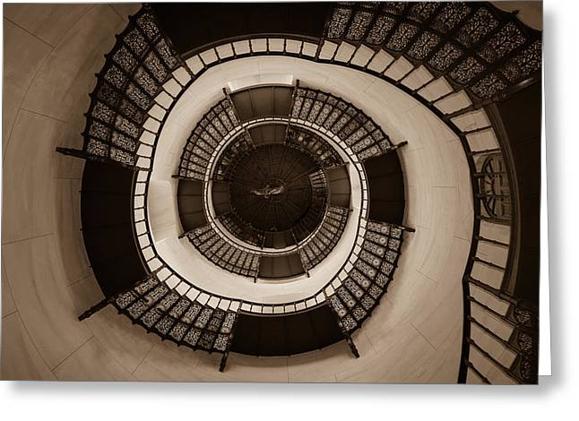 Circular Staircase In The Granitz Hunting Lodge Greeting Card by Andreas Levi