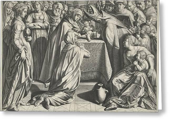 Circumcision Of Christ, Print Maker Egbert Van Panderen Greeting Card