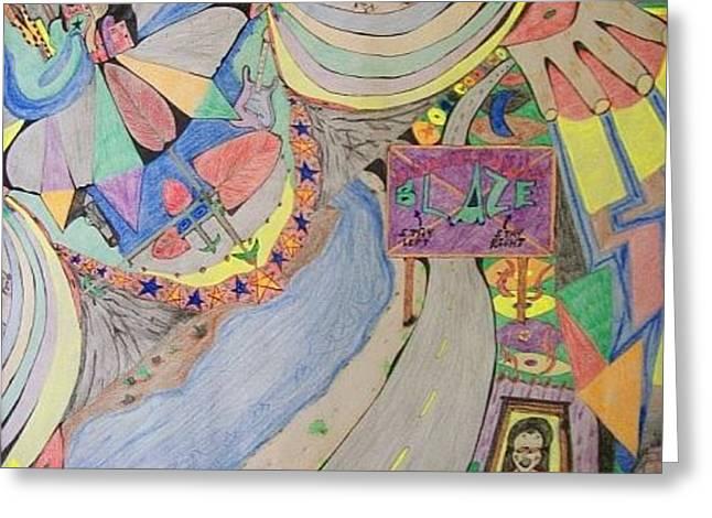 Circus Del Eye Greeting Card by Jonathon Hansen