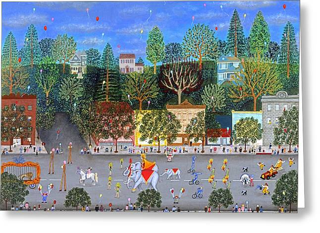 Circus Parade Two Greeting Card by Linda Mears