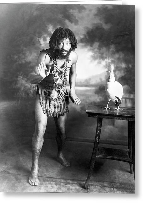 Circus Performer Chief Pantagal Greeting Card by American Philosophical Society