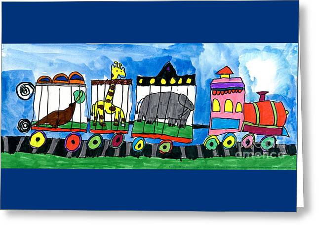 Circus Train Greeting Card