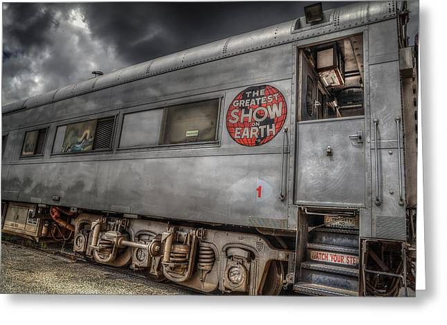 Circus Train Greeting Card by Ray Congrove