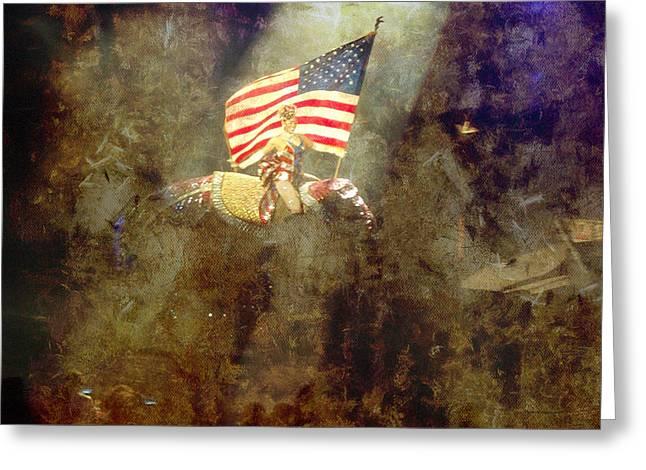 Circus Usa Flag Greeting Card by Thomas Woolworth
