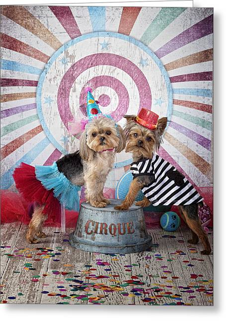 Cirque Act Greeting Card by Lisa Jane