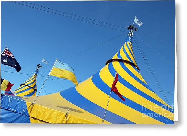Cirque Du Soleil Montreal Greeting Card by Ros Drinkwater