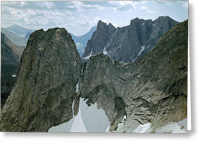 209615-cirque Of Towers, Wind Rivers, Wy Greeting Card