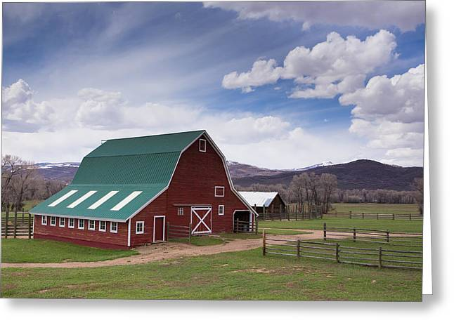 Cirrus And Cumulus Clouds Embrace The Rio Ante Ranch Greeting Card