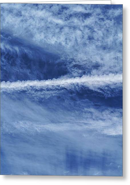 Cirrus Clouds And Contrails Greeting Card by Babak Tafreshi