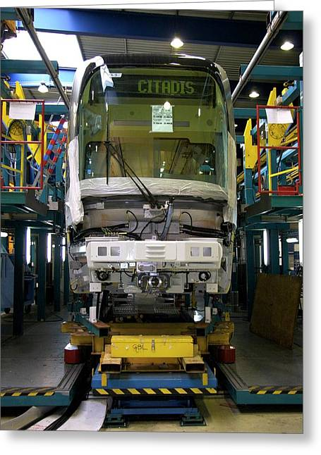 Citadis Tram On Its Assembly Line Greeting Card