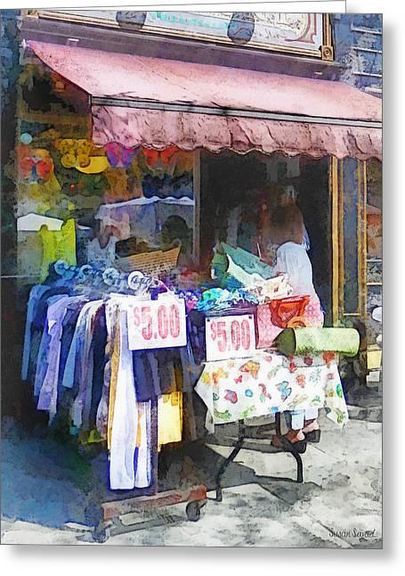 Hoboken Nj - Discount Dress Shop Greeting Card by Susan Savad