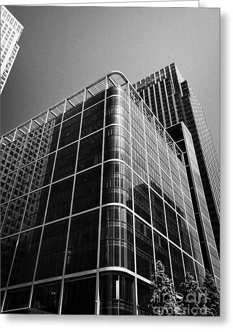 citigroup centre 33 and 25 canada square canary wharf London England UK Greeting Card