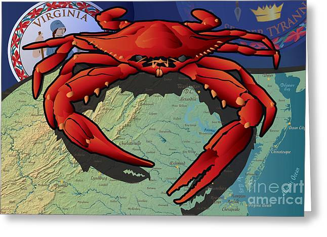 Citizen Crab Of Virginia Greeting Card
