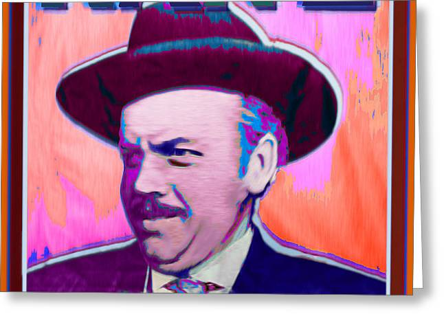 Citizen Kane Orson Welles Campaign Poster Color Greeting Card by Tony Rubino