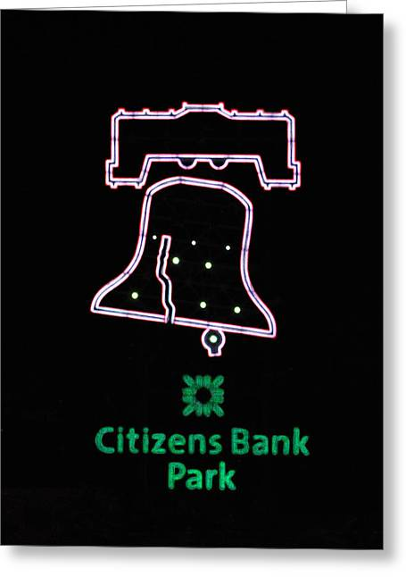 Citizens Bank Park Home Run Greeting Card by Lisa Phillips