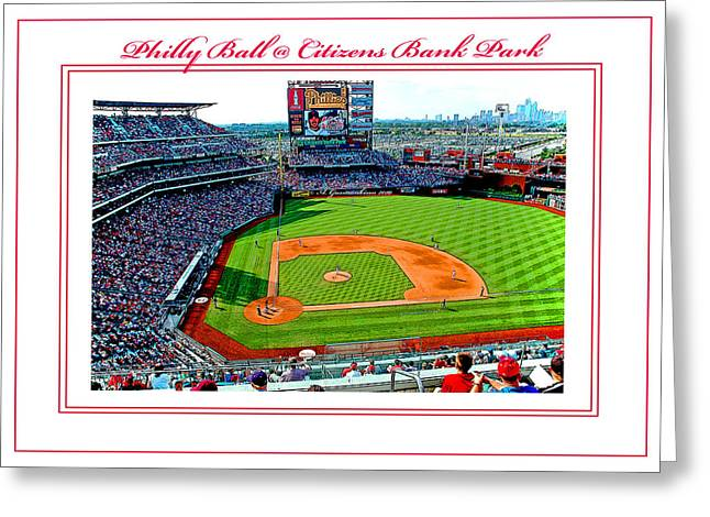 Citizens Bank Park Phillies Baseball Poster Image Greeting Card by A Gurmankin
