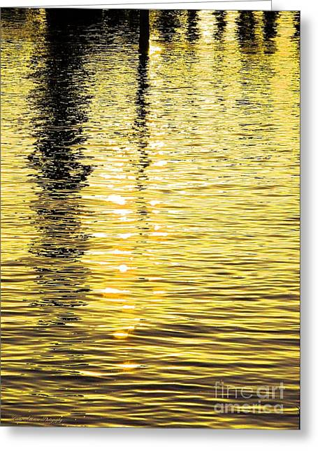 Citrine Ripples Greeting Card by Chris Anderson
