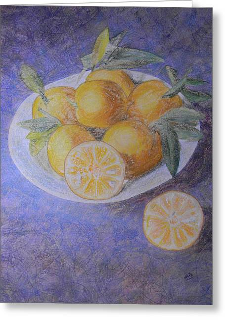 Citrus Greeting Card by Adel Nemeth