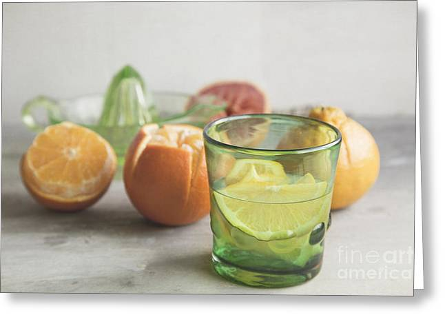 Citrus Bright Greeting Card by Elena Nosyreva