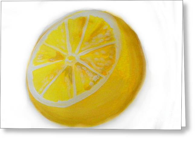 Greeting Card featuring the painting Citrus by Marisela Mungia