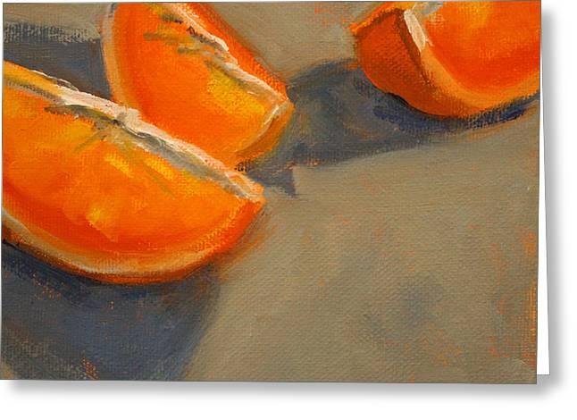 Citrus Meetup Greeting Card by Nancy Merkle
