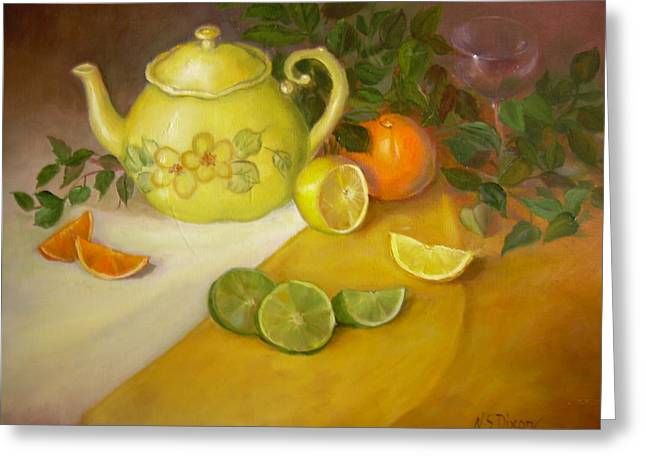 Citrus N Tea Greeting Card