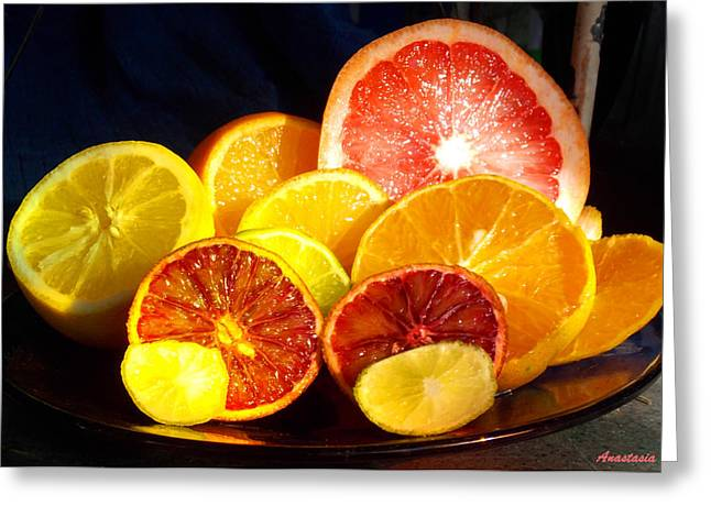 Citrus Season Greeting Card by Anastasia Savage Ealy