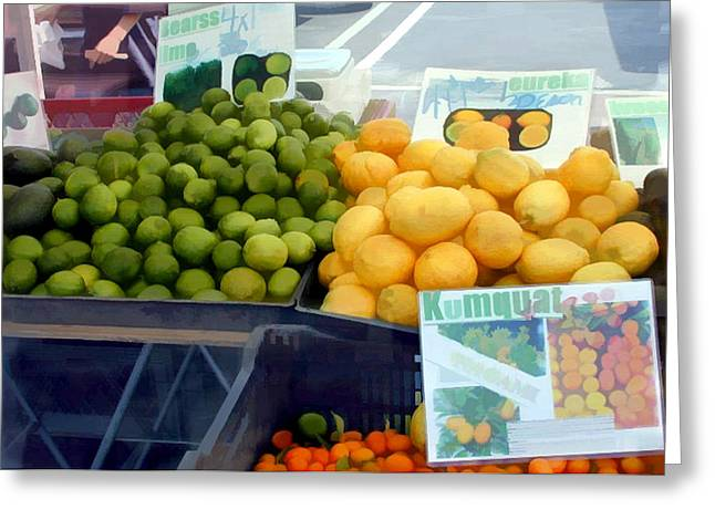Citrus Times Greeting Card by Elaine Plesser