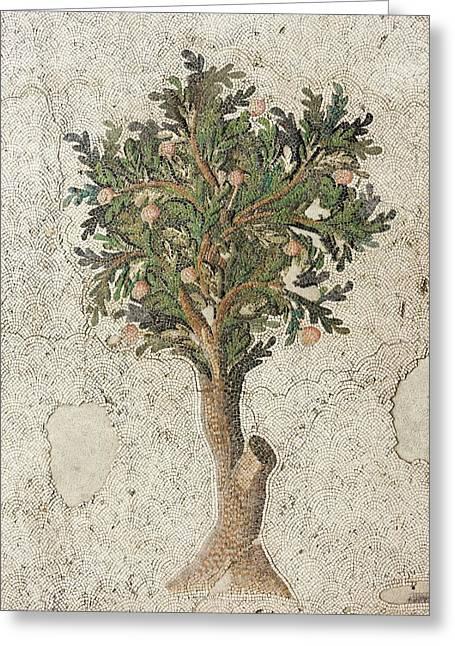 Citrus Tree Mozaic Greeting Card